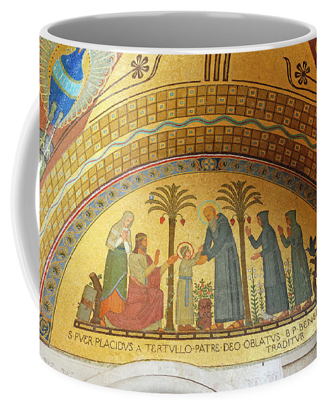 Mosaic Picture Coffee Mug featuring the photograph Abbey Mosaic by Sally Weigand