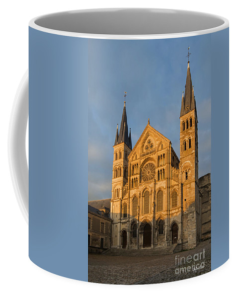 Abbey Of Saint-remi Reims Coffee Mug featuring the photograph Abbey Of Saint - Remi Reims by Yefim Bam