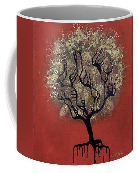 Tree Coffee Mug featuring the painting Abc Tree by Kelly Jade King