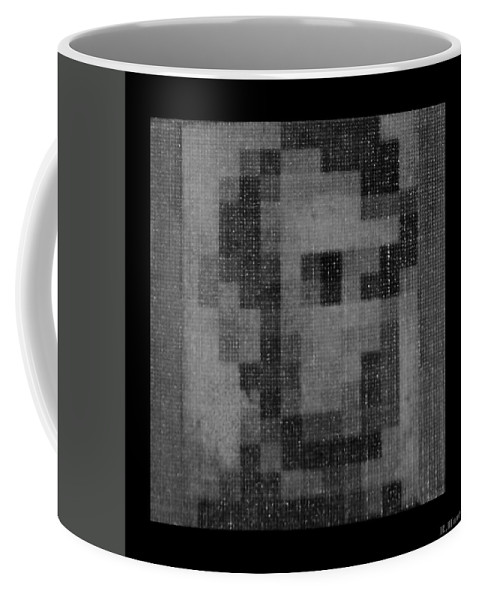 Black And White Coffee Mug featuring the photograph Abe In Black And White by Rob Hans