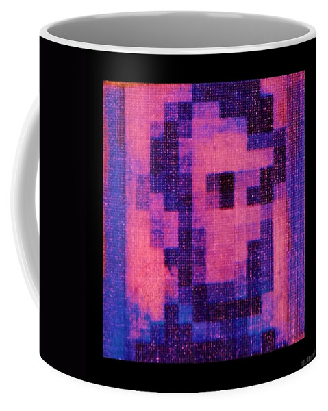 Pink Coffee Mug featuring the photograph Abe In Hot Pink by Rob Hans