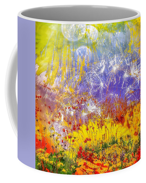 Ablaze Coffee Mug featuring the photograph Ablaze by LeAnne Perry