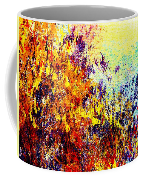 Ablaze Coffee Mug featuring the painting Ablaze by Tim Townsend
