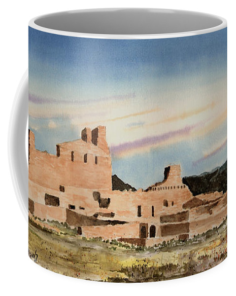 Mission Coffee Mug featuring the painting Abo Mission by Sam Sidders