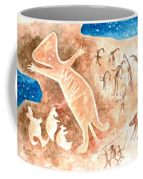 Aborigine Coffee Mug featuring the painting Aboriginal by Andrew Gillette
