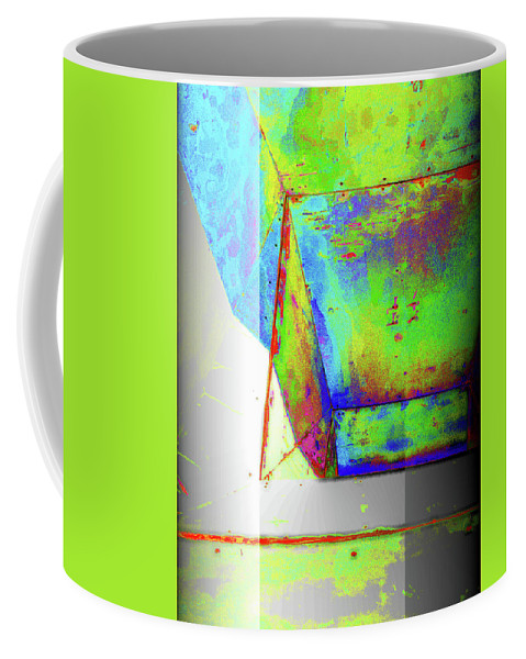 Abstract Art Coffee Mug featuring the pyrography Above All by Mira Satryan