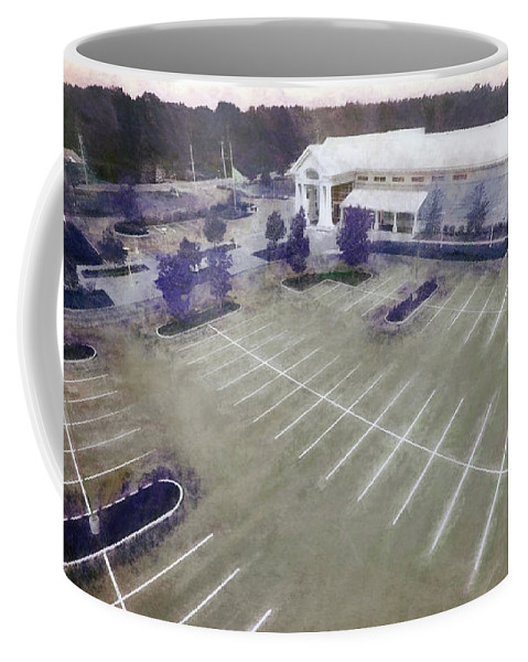 Aerial Coffee Mug featuring the photograph Above The Library II by Tina Baxter