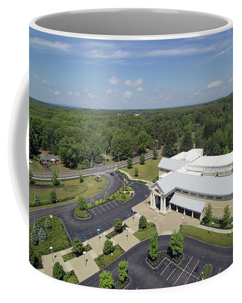Aerial Coffee Mug featuring the photograph Above The Library Iv by Tina Baxter