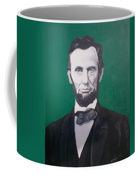 Abraham Lincoln Coffee Mug featuring the painting Abraham Lincoln by Gary Hogben