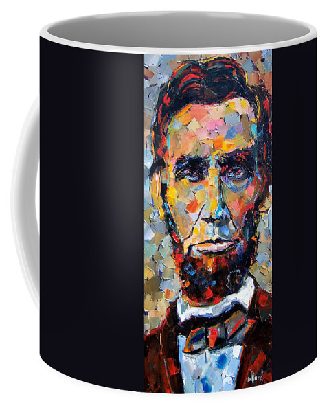 President Coffee Mug featuring the painting Abraham Lincoln portrait by Debra Hurd