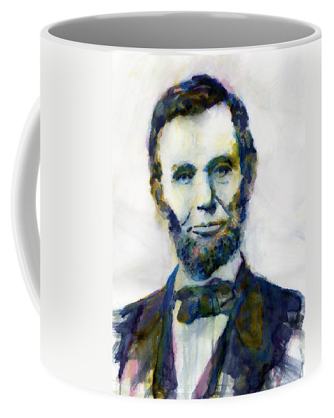 Abraham Coffee Mug featuring the painting Abraham Lincoln Portrait Study 2 by Hailey E Herrera