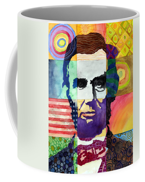 Abraham Coffee Mug featuring the painting Abraham Lincoln Portrait Study by Hailey E Herrera