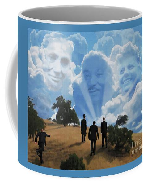 Canvas Prints Coffee Mug featuring the digital art Abraham Martin And John by Joseph Juvenal