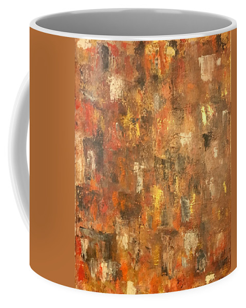 Abstract Painting Coffee Mug featuring the painting Absract 21 by Judy Tolley