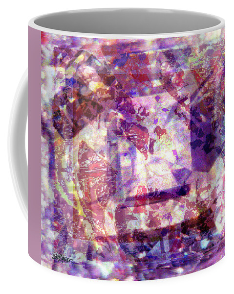 Abstract Coffee Mug featuring the digital art Abstacked by Seth Weaver