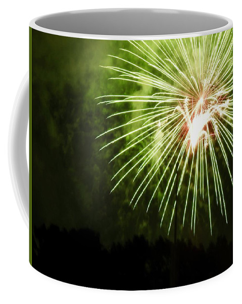 Fireworks Coffee Mug featuring the photograph Abstarct Art Five by Kenneth Summers