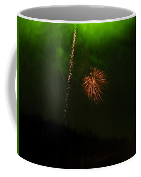 Fireworks Coffee Mug featuring the photograph Abstarct Art Three by Kenneth Summers