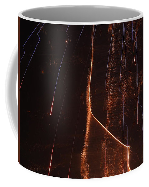 Fireworks Coffee Mug featuring the photograph Abstarct Fireworks by Kenneth Summers