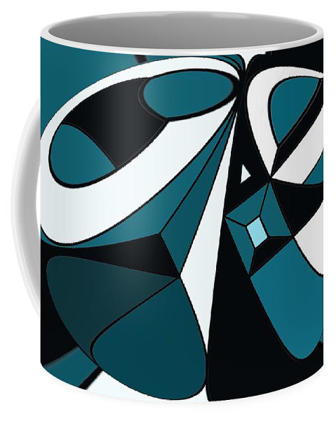 Abstract Coffee Mug featuring the digital art Abstrac7-30-09-a by David Lane