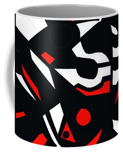 Abstract Coffee Mug featuring the digital art Abstrac7-30-09 by David Lane