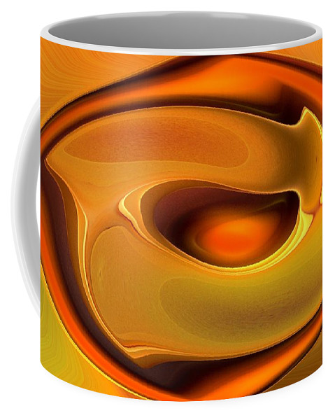 Abstract Coffee Mug featuring the digital art Abstrac8-15-09 by David Lane