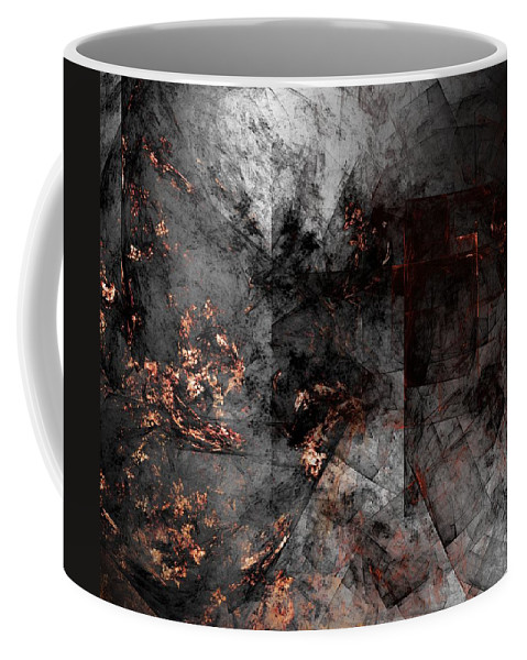 Fantasy Coffee Mug featuring the digital art Abstract 01-07-10-a by David Lane