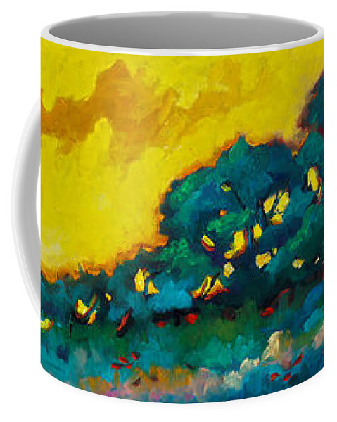 Abstract Coffee Mug featuring the painting Abstract 01 by Richard T Pranke