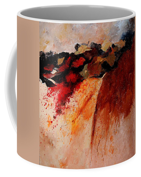 Abstract Coffee Mug featuring the painting Abstract 010607 by Pol Ledent