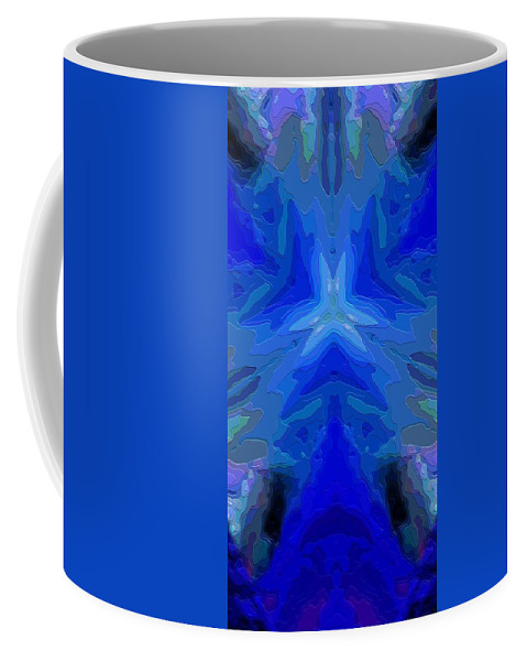 Abstract Coffee Mug featuring the digital art Abstract 032811-2 by David Lane