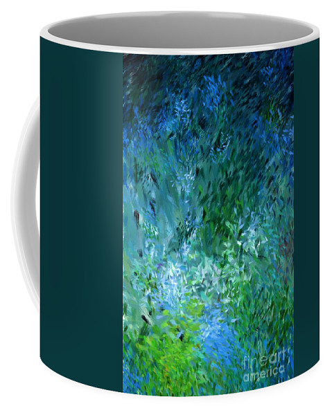 Abstract Coffee Mug featuring the digital art Abstract 05-25-09 by David Lane