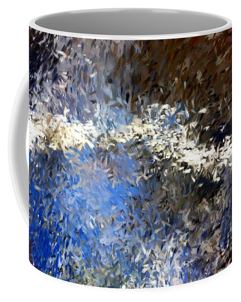 Abstract Coffee Mug featuring the digital art Abstract 06-03-09b by David Lane