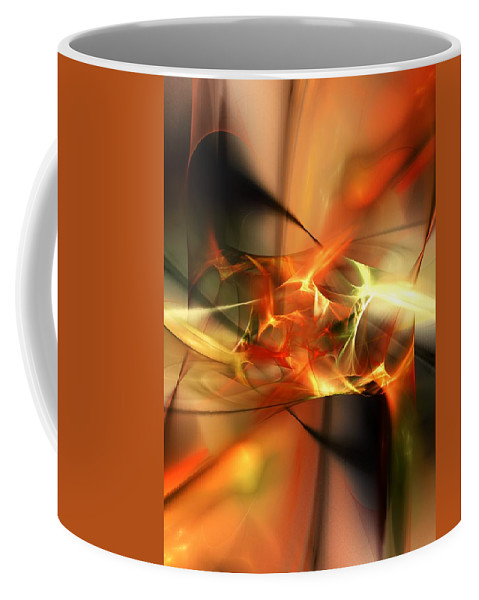 Digital Painting Coffee Mug featuring the digital art Abstract 060110a by David Lane