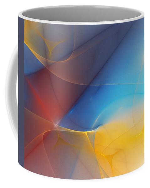 Fine Art Coffee Mug featuring the digital art Abstract 060810a by David Lane