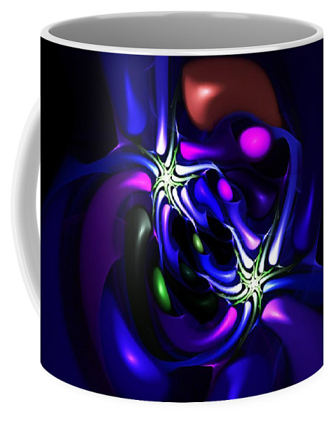 Abstract Coffee Mug featuring the digital art Abstract 060810f by David Lane