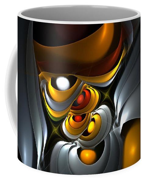 Fine Art Coffee Mug featuring the digital art Abstract 061010 by David Lane