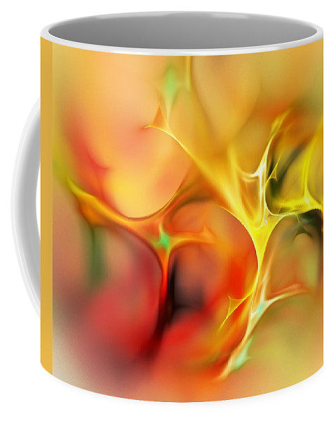 Abstract Coffee Mug featuring the digital art Abstract 061410a by David Lane
