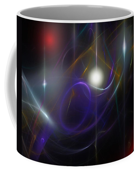 Abstract Coffee Mug featuring the digital art Abstract 062111 by David Lane