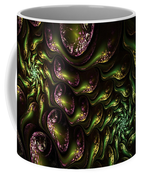 Expressionism Coffee Mug featuring the digital art Abstract 062210 by David Lane