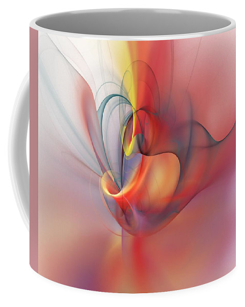Abstract Coffee Mug featuring the digital art Abstract 062910 by David Lane