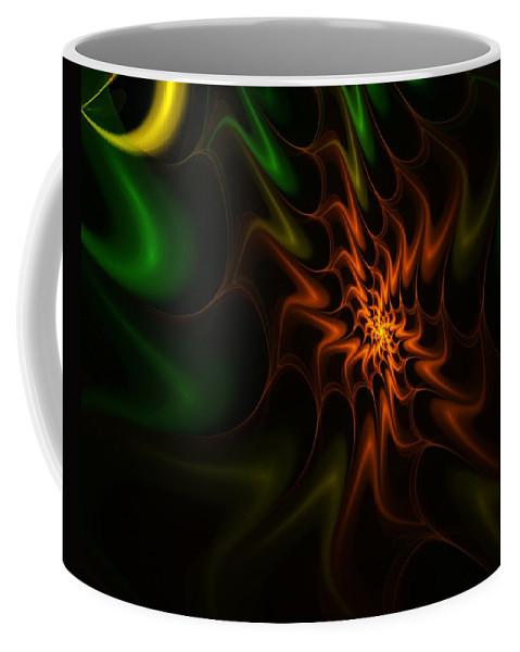 Abstract Coffee Mug featuring the digital art Abstract 070110 by David Lane