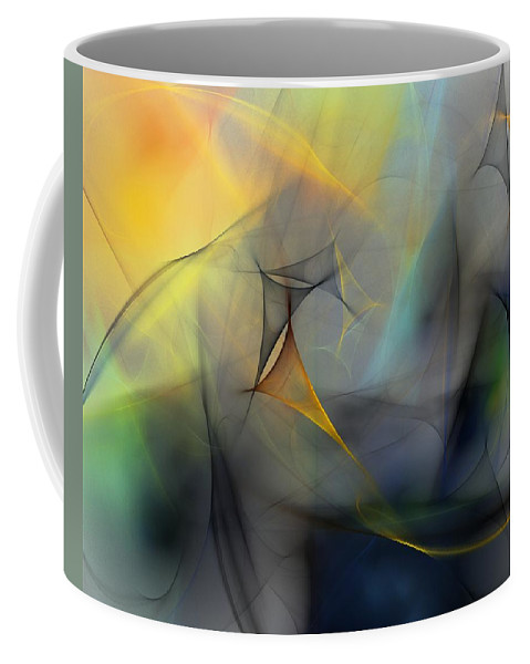 Abstract Coffee Mug featuring the digital art Abstract 071810 by David Lane