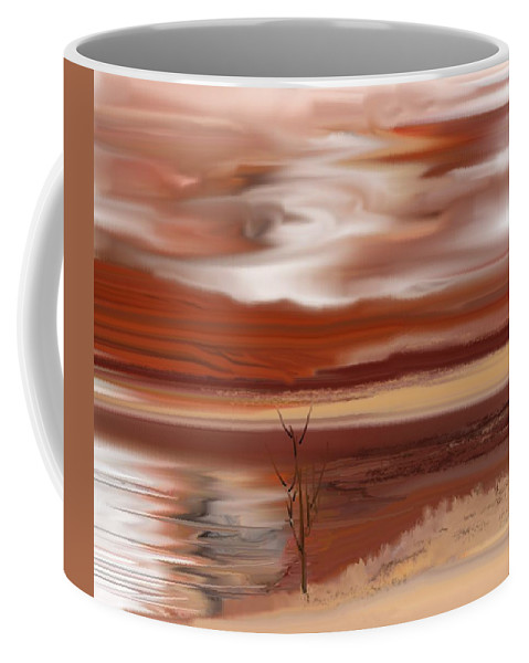 Landscape Coffee Mug featuring the digital art Abstract 080210 by David Lane
