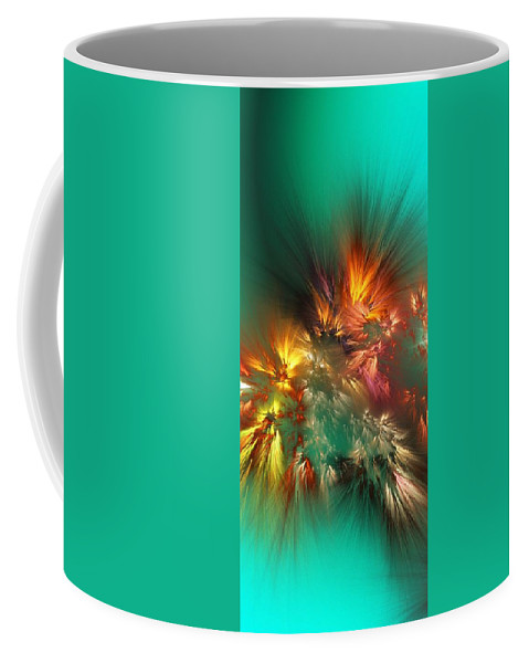Fine Art Coffee Mug featuring the digital art Abstract 090710a by David Lane