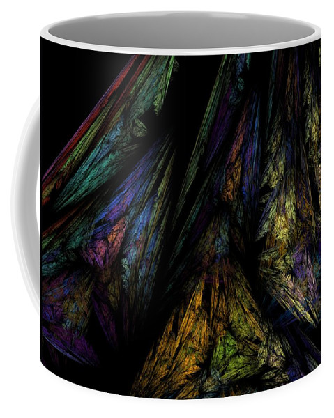 Abstract Digital Painting Coffee Mug featuring the digital art Abstract 10-08-09-1 by David Lane