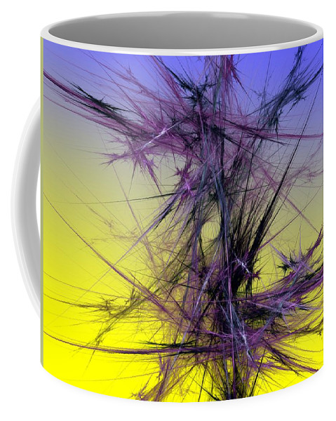 Abstract Digital Painting Coffee Mug featuring the digital art Abstract 10-08-09 by David Lane