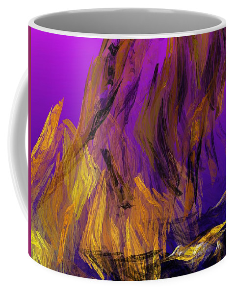 Abstract Digital Painting Coffee Mug featuring the digital art Abstract 10-16-09-3 by David Lane