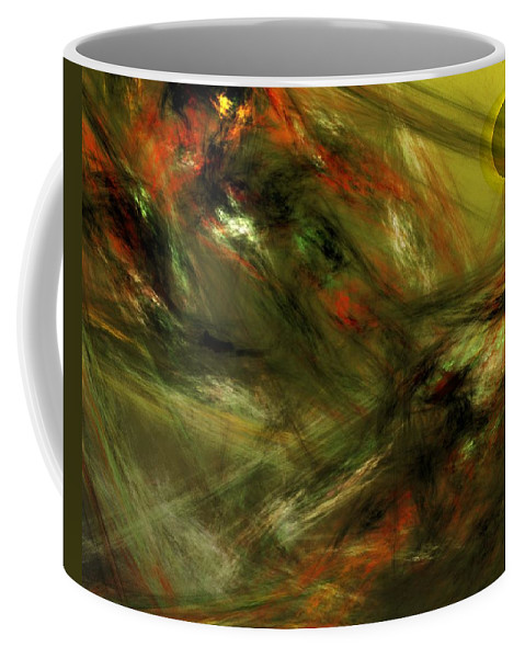 Fine Art Digital Art Coffee Mug featuring the digital art Abstract 102910a by David Lane