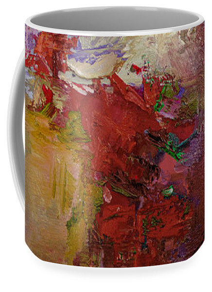 Abstract Coffee Mug featuring the painting Abstract 103 by Betty Jean Billups