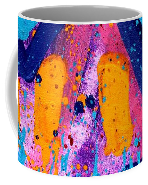 Abstract Coffee Mug featuring the painting Abstract 10316 - Cropped by John Nolan