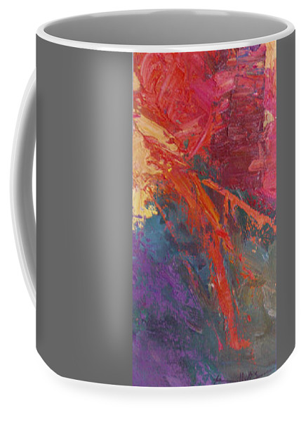 Abstract Coffee Mug featuring the painting Abstract 103a by Betty Jean Billups